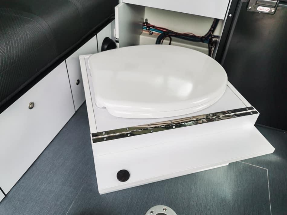 toilettes sèches van aménagé